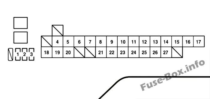 Under-hood fuse box #1 diagram: Lexus LS 460 (2007, 2008)