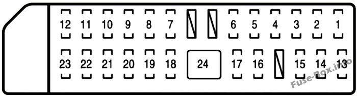 Instrument panel fuse box #2 diagram: Lexus LS 460 (2007, 2008)