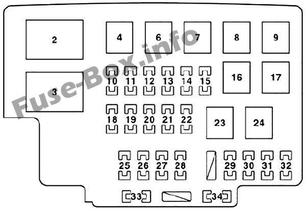 Fuse Box Diagram Lexus RX330 / RX350 (XU30; 2003-2009)Fuse-Box.info