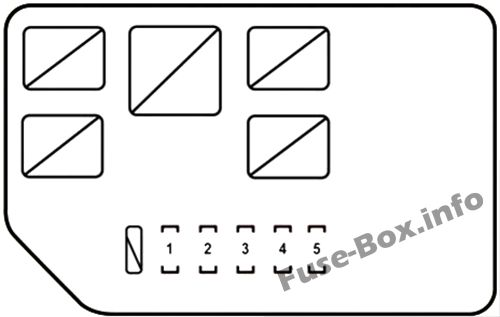 Under-hood fuse box #3 diagram: Lexus RX 450h (2010, 2011, 2012, 2013, 2014, 2015)