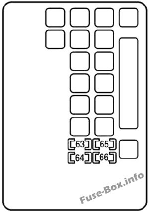 Under-hood fuse box #2 diagram: Lexus SC 430 (2001-2010)