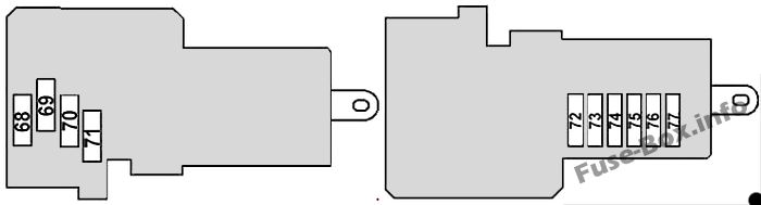 Front Pre-Fuse Box (diagram): Mercedes-Benz CLS-Class (2004-2010)