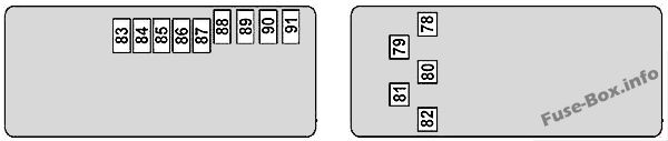 Rear Pre-fuse Box (diagram): Mercedes-Benz CLS-Class (2004-2010)