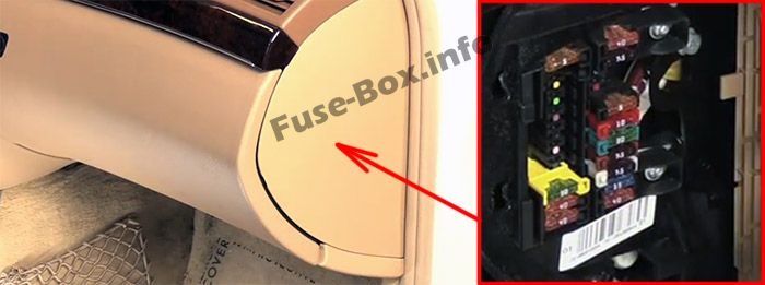 The location of the fuses in the passenger compartment: Mercedes-Benz CL-Class / S-Class (2006-2014)