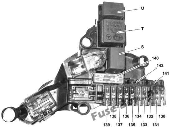 Engine Compartment Additional Fuse Box Diagram (Hybrid): Mercedes-Benz E-Class (2010-2016)