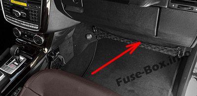 Passenger Footwell Fuse Box Location: Mercedes-Benz G-Class (W463)