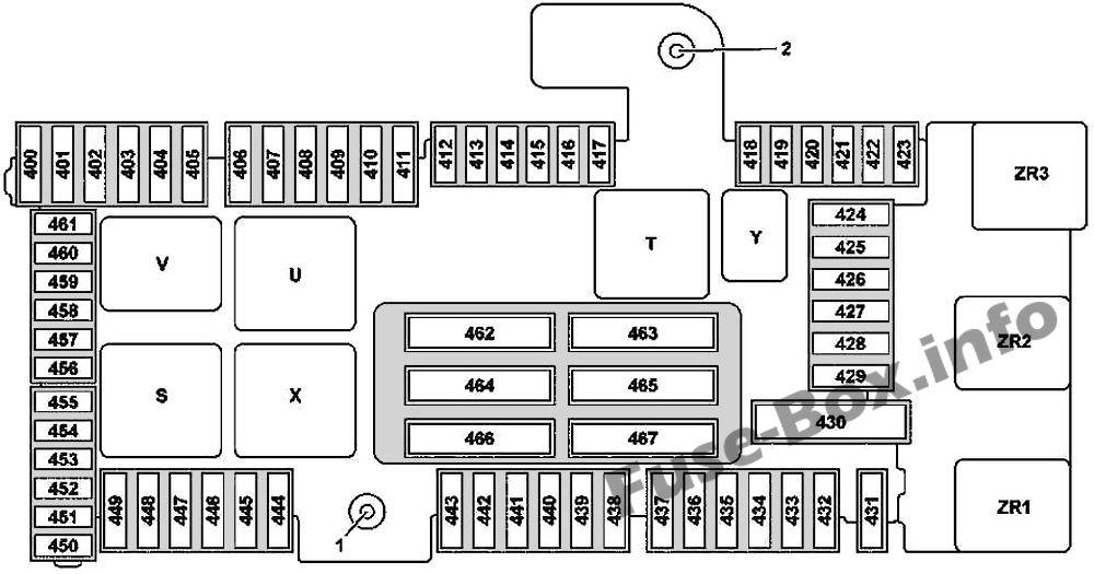 Trunk fuse box diagram (version 2): Mercedes-Benz GLC-Class (2015-2019-..)