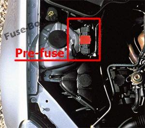 Engine Pre-Fuse Box: Mercedes-Benz SLK-Class (2005-2011)