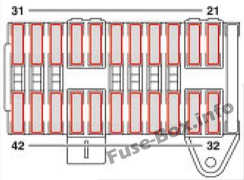 Under-hood fuse box diagram (F34): Mercedes-Benz Vito / Viano (2004-2010)