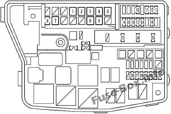 Fuse Box Diagram Scion Xb  2007
