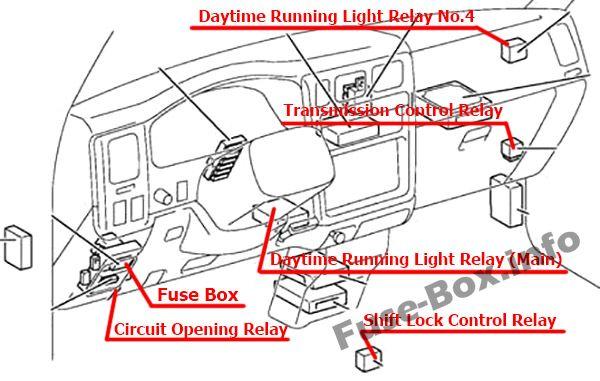 fuse box diagram toyota tacoma 2001 2004. Black Bedroom Furniture Sets. Home Design Ideas