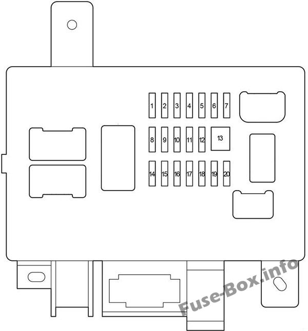 Instrument panel fuse box diagram: Toyota Tacoma (2005-2015)