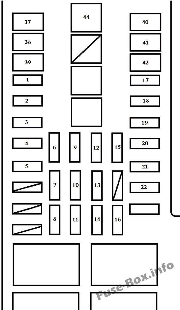 Under-hood fuse box diagram: Toyota Tundra (2003, 2004)