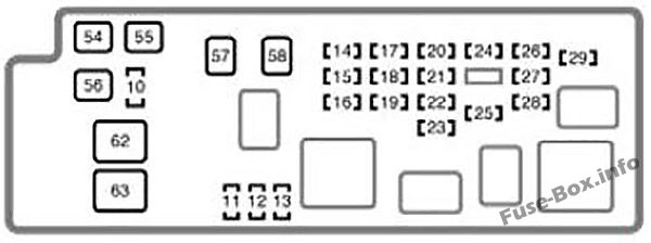 Under-hood fuse box #2 diagram: Toyota Tundra (Double Cab) (2004)