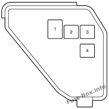 Under-hood fuse box #2 diagram: Toyota Yaris Hybrid / Echo Hybrid (2012-2017)