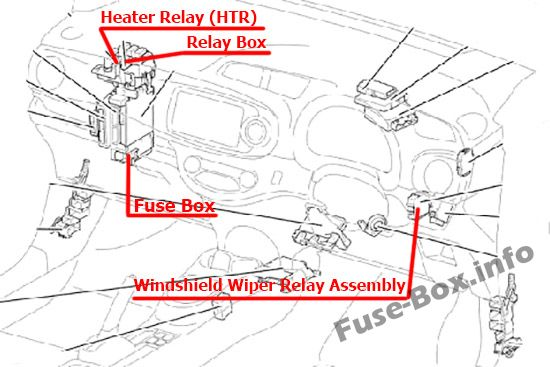 Fuse Box Diagram Toyota Yaris  Echo  Vitz  Xp130  2011