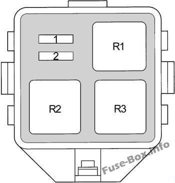 Additional Fuse Box: Toyota Yaris / Echo / Vitz / Yaris Verso / Echo Verso (1999-2005)