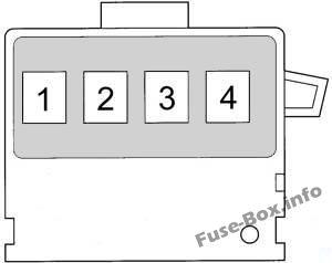 Fusible Link Block: Toyota Yaris / Echo / Vitz /Yaris Verso / Echo Verso (1999-2005)