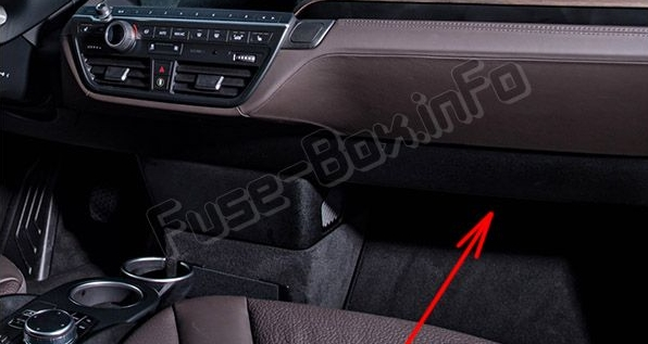the fuses are located in the passenger foot‐well under the glove box  (remove the lining and fuse cover)