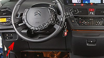 Fuse Box Diagram > Citroën C4 Picasso I (2006-2012)