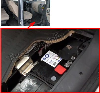 the location of the fuses in the passenger compartment: peugeot expert  vu (2007-