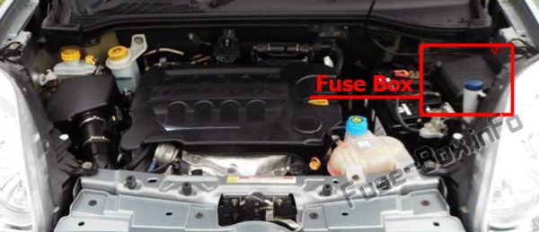 The location of the fuses in the engine compartment: Fiat Doblo (2010-2018)