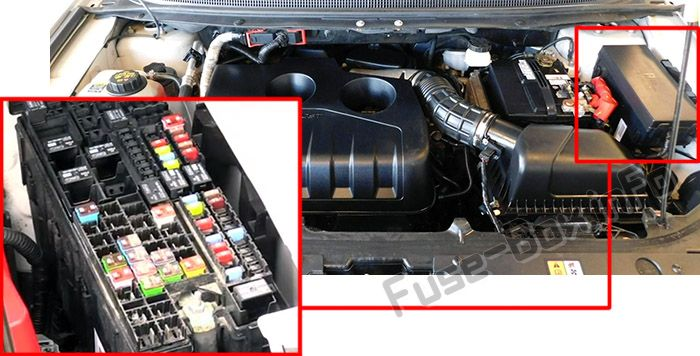 The Power Distribution Box Is Located In The Engine Compartment