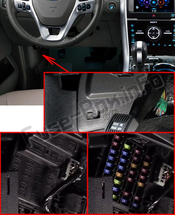 2011 ford edge fuse box location ford edge (2011-2014)