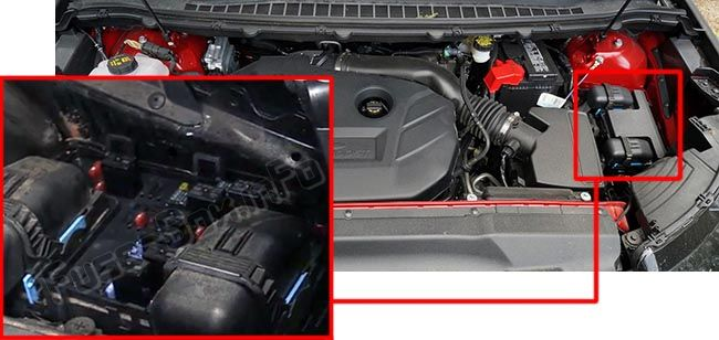 The Power Distribution Box Is Located In The Engine Compartment Left Side