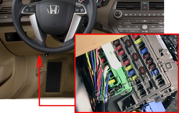 2008 Honda Accord Interior Fuse Box Diagram