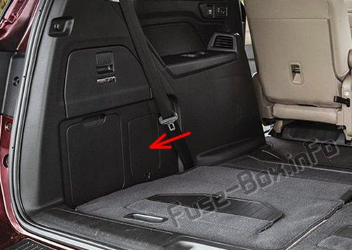 The location of the fuses in the trunk: Honda Odyssey (2018, 2019-...)