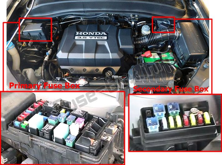 Honda ridgeline fuse box detailed schematics diagram
