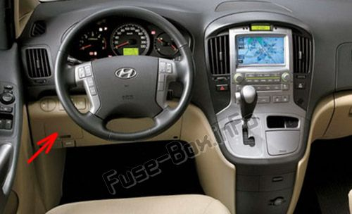 La ubicación de los fusibles en el habitáculo: Hyundai H-1 / Grand Starex (2008-2018)