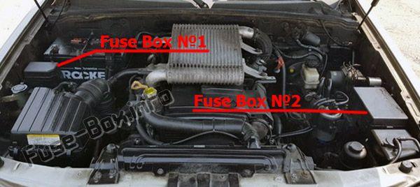 La ubicación de los fusibles en el compartimiento del motor: Hyundai Terracan (2005, 2006, 2007)