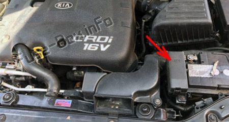 Additional fuse panel (Diesel): KIA Forte / Cerato (2004-2008)
