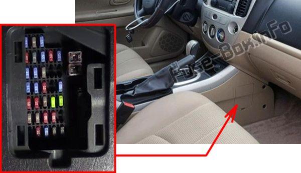 2007 Mazda 3 Interior Fuse Box Diagram