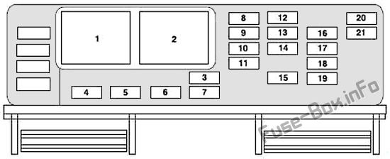 Fuse Box Diagram  U0026gt  Mercury Monterey  2004