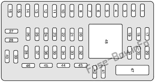 fuse box diagram mercury sable 2008 2009. Black Bedroom Furniture Sets. Home Design Ideas