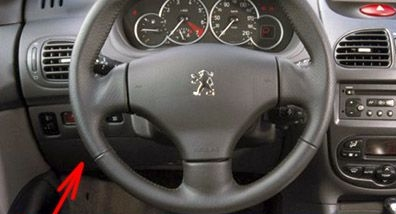 The location of the fuses in the passenger compartment: Peugeot 206 (1999-2008)