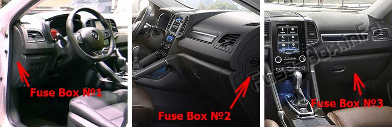 Fuse Box Diagram Renault Koleos Ii  2016