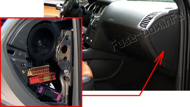 The location of the fuses in the passenger compartment (right): Audi Q7