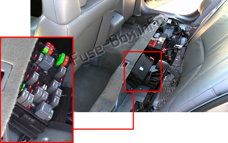 The location of the fuses in the passenger compartment: Buick LeSabre (2000, 2001, 2002, 2003, 2004, 2005)