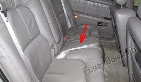Rear Underseat Fuse Box location: Buick Park Avenue
