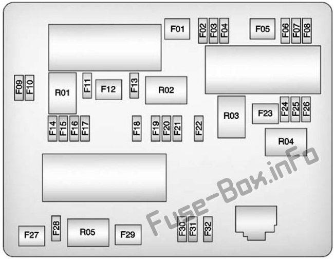 Trunk fuse box diagram: Buick Verano