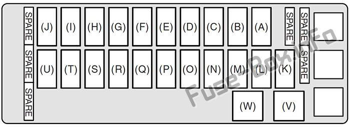 fuse box diagram suzuki grand vitara jt 2005 2015. Black Bedroom Furniture Sets. Home Design Ideas