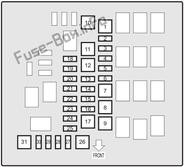Under-hood fuse box diagram: Suzuki Ignis (2016, 2017, 2018, 2019)