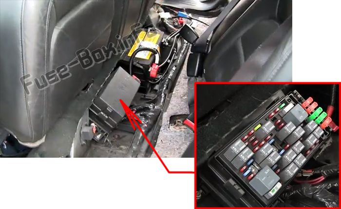 The location of the fuses in the passenger compartment: Cadillac DeVille