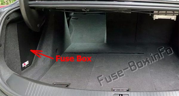 The location of the fuses in the trunk: Cadillac ELR