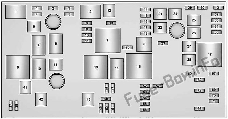 Under-hood fuse box diagram: Cadillac XTS