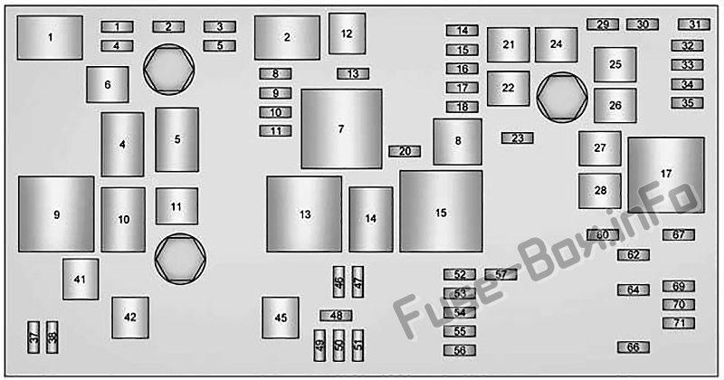 Fuse Box Diagram Cadillac Xts  2013